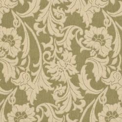 Safavieh Indoor/ Outdoor Green/ Cream Rug (4' x 5'7)