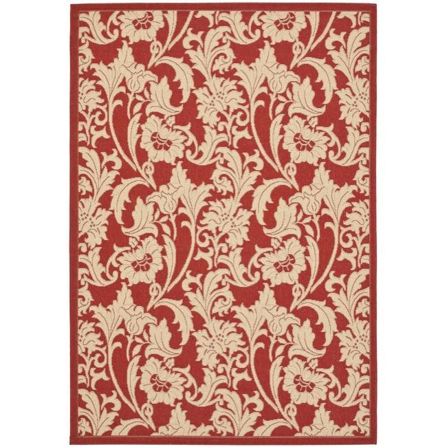 Safavieh Indoor/ Outdoor Red/ Cream Rug (5'3 x 7'7) at Sears.com