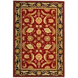 Safavieh Hand-hooked Kerman Red Polypropylene Rug (3' x 5')