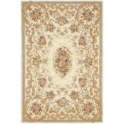 Safavieh Handmade Paradise Bouquet Ivory Wool and Silk Rug (6' x 9')