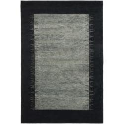 Safavieh Hand-knotted Gabeh Solo Grey/ Black Wool Rug (4' x 6')