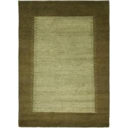 Safavieh Hand-knotted Gabeh Solo Teal Wool Rug (3' x 5')