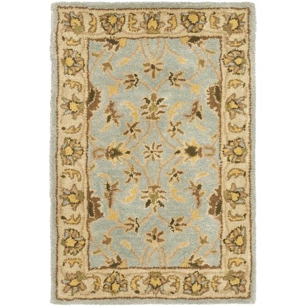 Safavieh Handmade Heritage Kashmar Light Blue/ Beige Wool Rug (3' x 5')