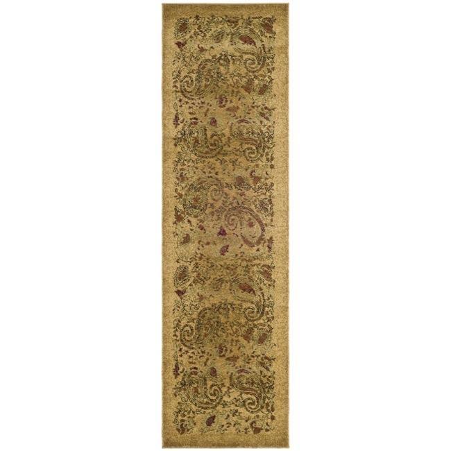 Safavieh Lyndhurst Collection Paisley Beige/ Multi Runner (2'3 x 20')