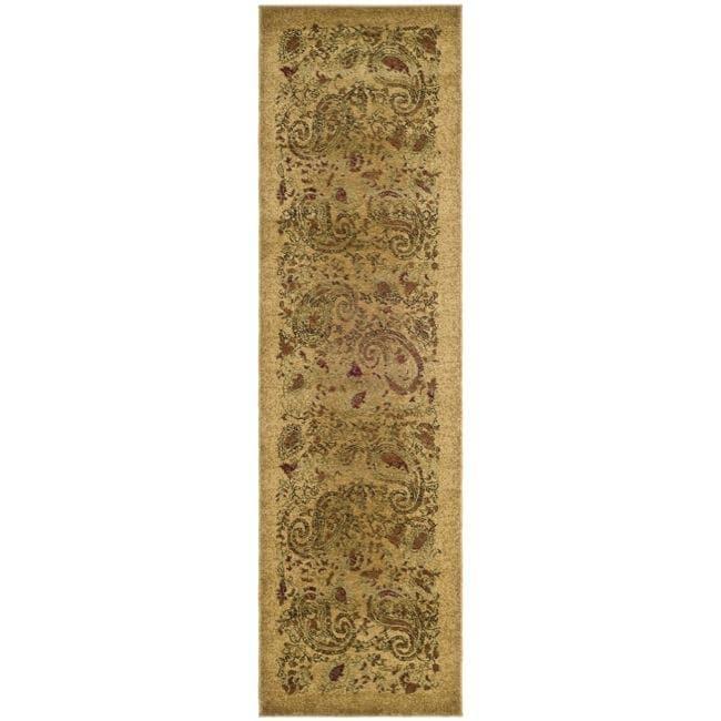 Safavieh Lyndhurst Collection Paisley Beige/ Multi Runner (2'3 x 6')