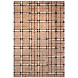 Hand-knotted Lexington Sunset Rust Wool Rug (7'6 x 9'6)