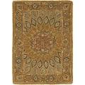 Safavieh Handmade Heritage Medallion Light Brown/ Grey Wool Rug (2' x 3')