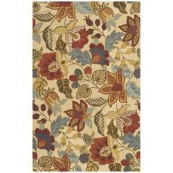 Safavieh Handmade Jardine Foilage Beige/ Multi Wool Rug (9' x 12')