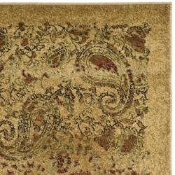 Safavieh Lyndhurst Collection Paisley Beige Multi Runner