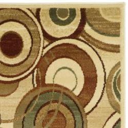 Safavieh Lyndhurst Collection Circ Ivory/ Multi Runner (2'3 x 12')