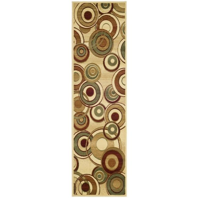 Lyndhurst Collection Circ Ivory/ Multi Runner (23 X 16)