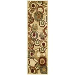 Lyndhurst Collection Circ Ivory/ Multi Runner (2'3 x 16')