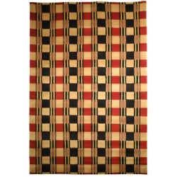 Hand-knotted Lexington Plaid Multi Wool Area Rug (6' x 9')
