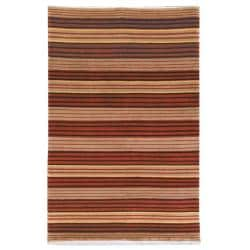 Hand-knotted Lexington Stripes Multi Wool Rug (7'6 x 9'6)