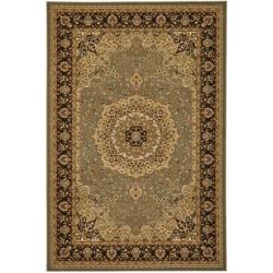 Majesty Extra Fine Sage/ Brown Rug (7'9 x 9'9)