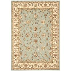 Majesty Extra Fine Light Blue/ Cream Rug (7'9 x 9'9)
