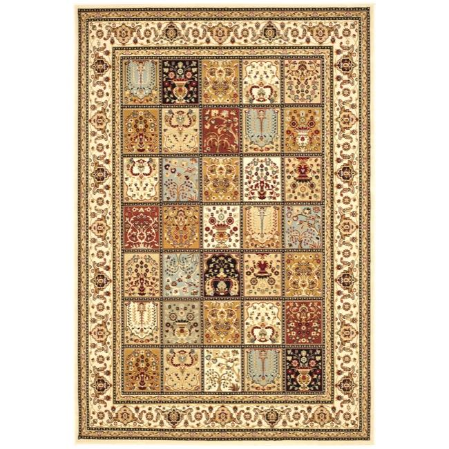 Safavieh Majesty Extra Fine Panel Multi/ Cream Rug (7'9 x 9'9)