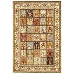 Majesty Extra Fine Panel Multi/ Cream Rug (7'9 x 9'9)