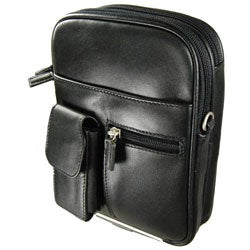 Castellos Romano Black Leather Travel Organizer