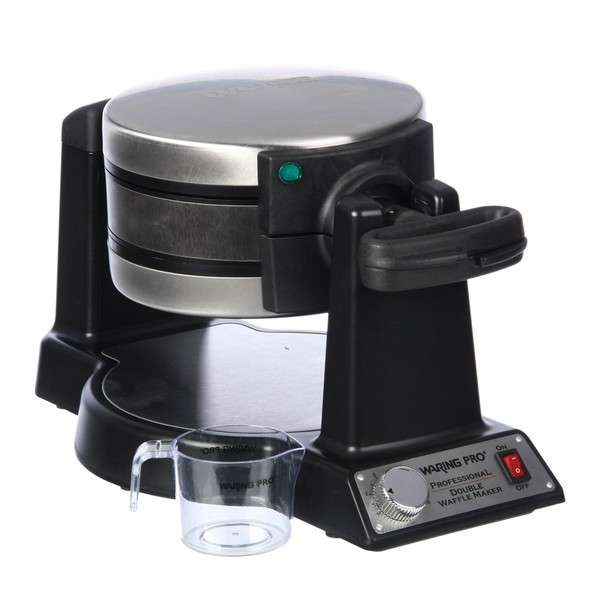 Waring Pro WMK600BKFR Black Double Belgian Waffle Maker (Refurbished)