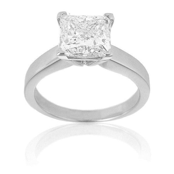 Montebello 14k Gold 3ct TDW Certified Diamond Solitaire Engagement Ring (G-H, SI2)