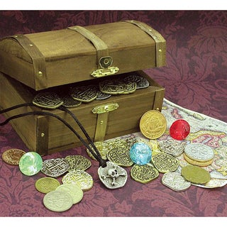 American Coin Treasures Kid's Pirate Chest - Brown