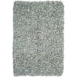 Hand-tied Grey Leather Rug (8' x 10')