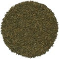 Hand-tied Green Leather Rug (6' Round)