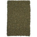 Hand-tied Green Leather Rug (8' x 10')
