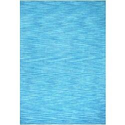 Hand-tufted Fusion Aqua Wool Rug (4' x 6')