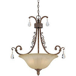 Le'Chandon Copper Patina 3-light Pendant