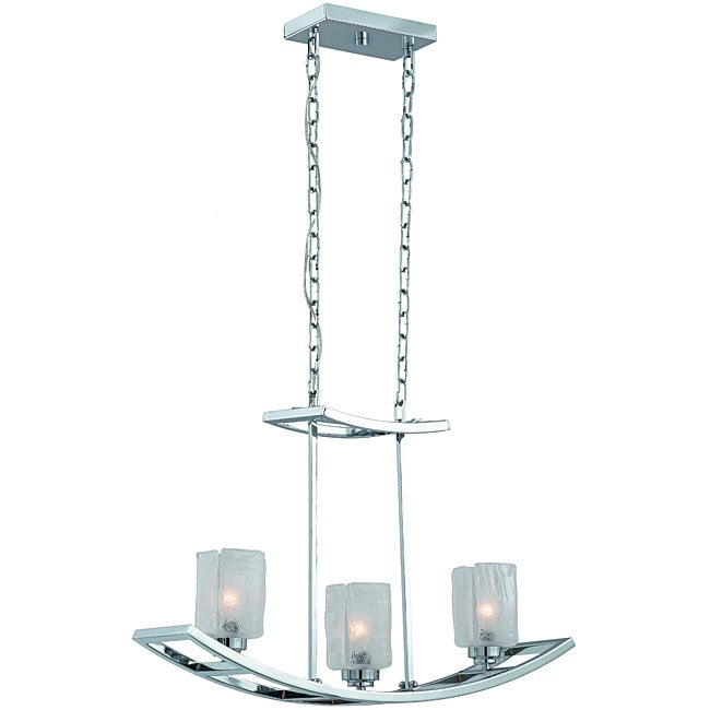 Yacht Club Chrome 3-light Island Light