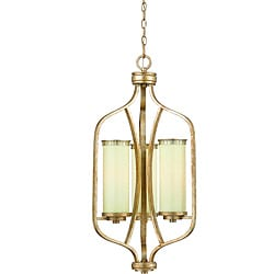 Maestro Silver and Gold Leaf 3-light Foyer Pendant