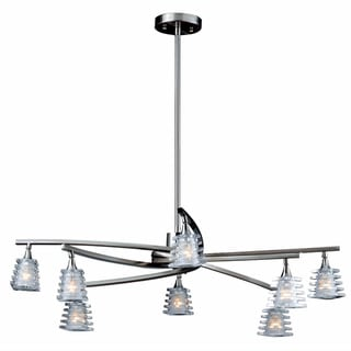 Milan Brushed Steel 8-light Chandelier