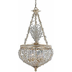Garland Gold and Silver Leaf 4-light Pendant