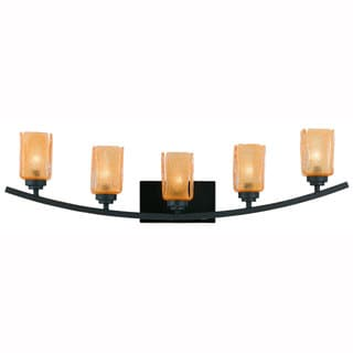 Yacht Club 5-light Bath with Dark Bronze Finish