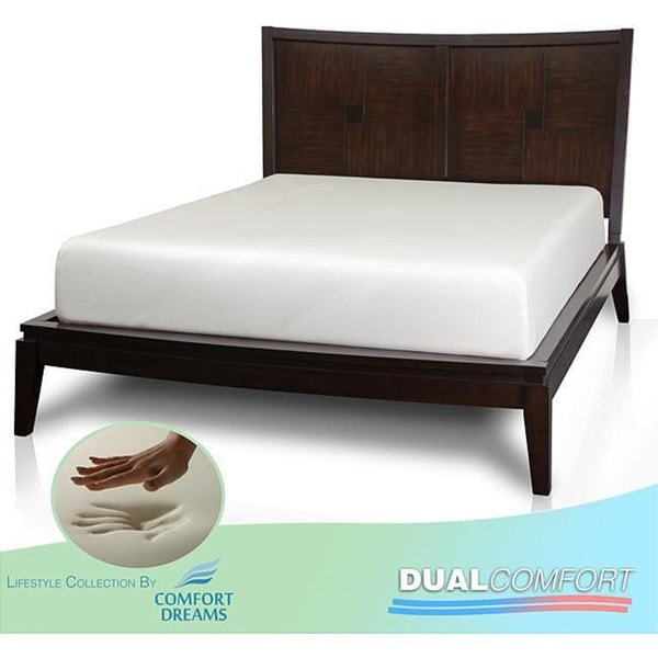 Comfort Dreams Dual Comfort 12-inch Cal King-size Memory Foam Mattress