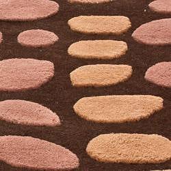 nuLOOM Handmade Modern Brown/ Pink Wool Rug (4' x 6')