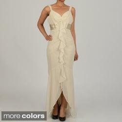 Issue New York Women's Cinched Ruffled Evening Dress
