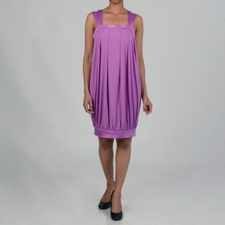 Issue New York Women's Banded Bottom Square Neck Bubble Dress