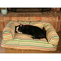 Meduim Tropical Stripe Bolster Dog Bed