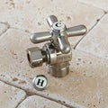 Satin Nickel Brass Cross-Handle Angle Stop