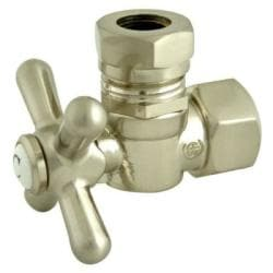 Satin Nickel Cross Handle Angle Stop