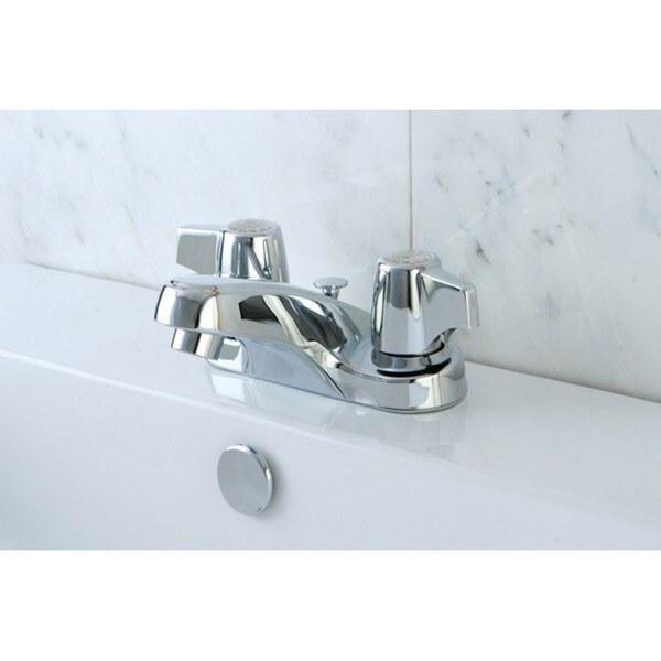 Chrome Twin Handle Bathroom Faucet
