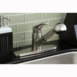 Single Loop Pull-out Handle Satin Nickel Kitchen Faucet