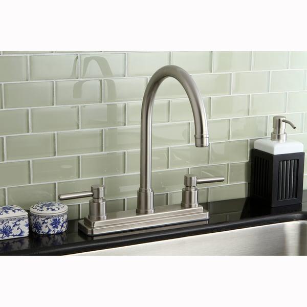 Claremont Satin Nickel 8-inch Kitchen Faucet
