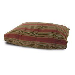 Burgundy Stripe Pet Bed