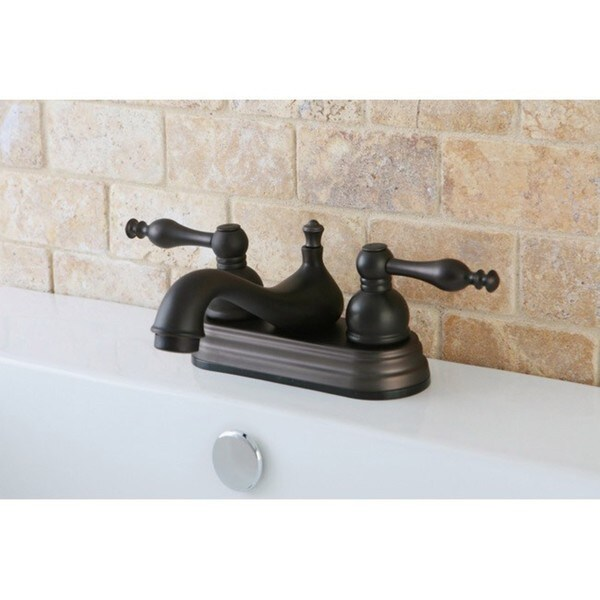 Oil Rubbed Bronze 4-inch Centerset Bathroom Faucet