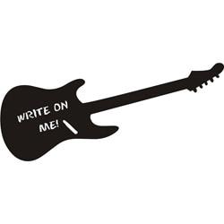 Vinyl Attraction Guitar Dark Grey Chalkboard Decal