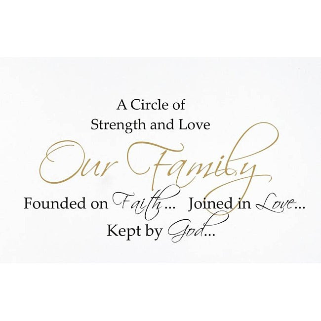 Vinyl Attraction 'A Circle of Strength and Love' Inspiring Vinyl Decal